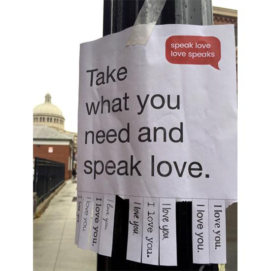 <i>Speak Love, Love Speaks</i>